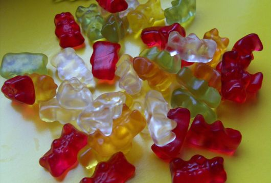 pile of gummi bear candies